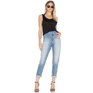 Cheap Monday Donna High Waist Jean in Dash Blue